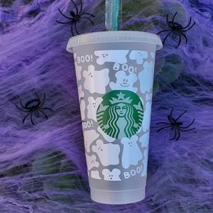 Mickey Ghosts on a Starbucks Venti Cold Cup